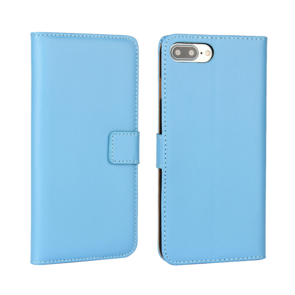 Plain leather flip wallet leather case multicolor customized phone shell blank back cover for iPhone 7 plus