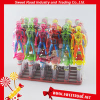 Plastic Spiderman Sweet candy Toy