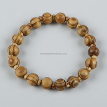8mm factory brown olive wooden bead catholic saint rosary bracelet