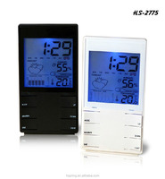 weather forecast station calendar desk clock