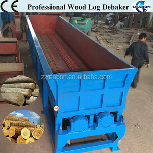 Stripping Tree Bark Portable Mobile Wood Debarker