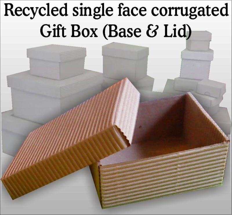 Recycled single face corrugated GIFT BOX