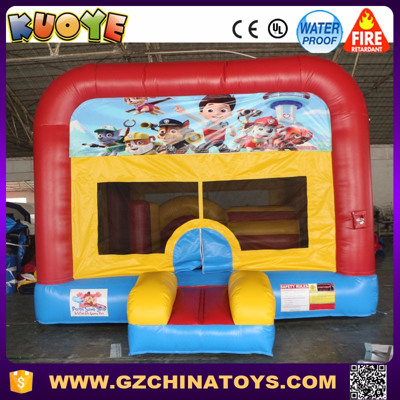 Commercial custom banner dog patrol inflatable bounce house for sale