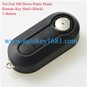 Flip Remote Key Case Shell Cover 3 Buttons for FIAT 500 Panda Punto Bravo Car Alarm Keyless Entry Fob