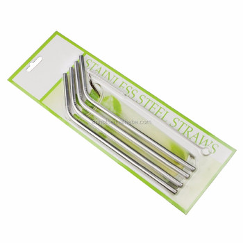 Stainless steel straws set of 4 Cleaning Brush