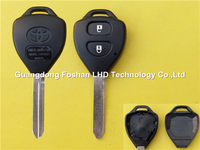 Toyota 2 buttons auto car key blank with TOY47 blade