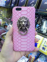 for iPhone 6 plus case with mobile phone lion head ring holder