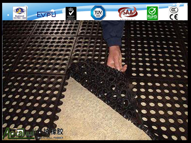 Great Wall Interlocking Anti fatigue anti slip garage Rubber floor Mats