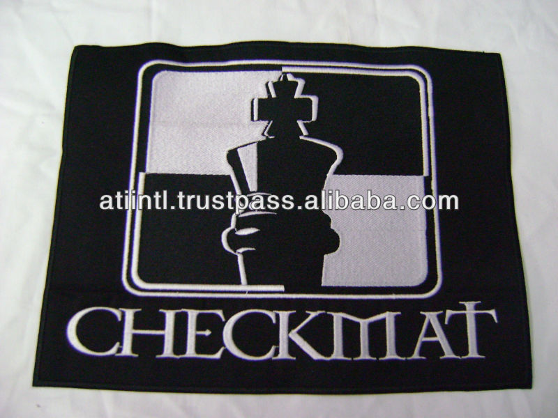 BJJ Embroidered Patches with over lock finished edges