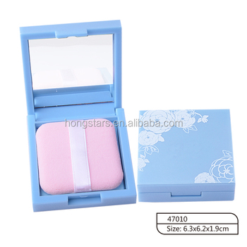 Best quality cosmetic face oil aborbing paper with puff and mirror in plastic case