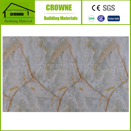 Interior Decorative Marble Texture waterproof PVC Bathroom Wall Covering Panels pvc marble sheet