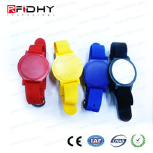 Reusable waterproof PVC Woven adjustable wristband 13.56mhz RFID bracelet