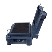 Military Style Portable Solar Lighting System With 50W Folding Solar Panel