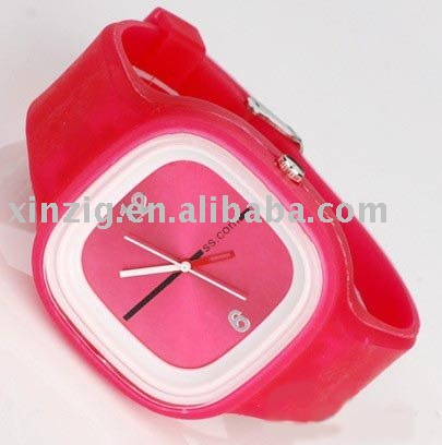 customized silicone led watch with candy color