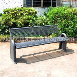 Outdoor furniture cheap steel bench seat for park and street