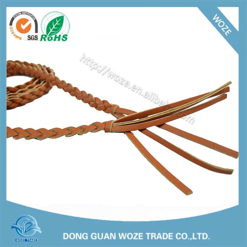 braided pu belt China Wholesale Market Agents Pu Leather Belt