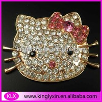 39*51mm Cat Rhinestone brooch for mobile phone case LX-C202