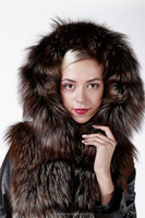 Lamb Jacket with Fox Fur Collar