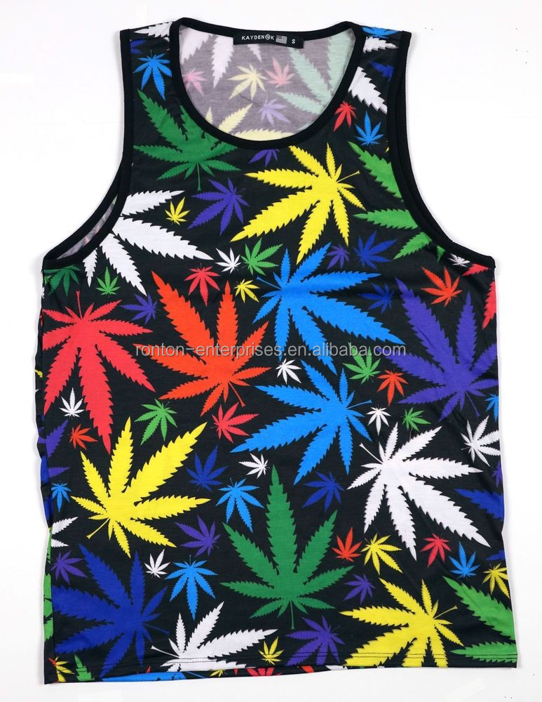 All over sublimation printed tank top for wholeslae