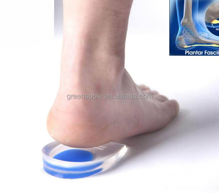 Medicated Plantar Fasciitis Shock Absorber Silicone Gel Heel Protection Pads Heel Cup Inserts