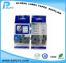 Compatible 18mm Black on Matte Clear laminated Adhesive tape TZe-M41 TZeM41 for P-touch label manual typewriter
