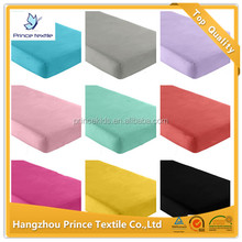 Elastic Fitted Crib Sheet Various Color Cotton Sheet in Bedding Set