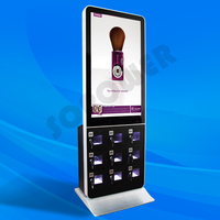 42'' big LCD screen free standing phone storage cell phone charging kiosk for sale