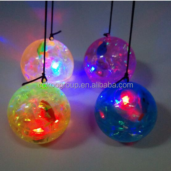 clear rubber led bouncing ball