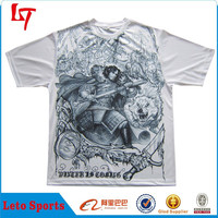 Men's artful custom made sublimation t shirt /Latest fashion casual wear garment for men