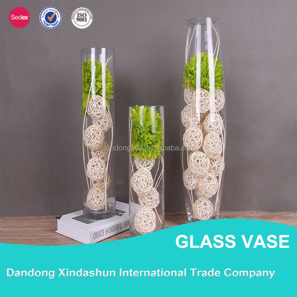 Different types transparent glass vase for home decor