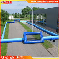 custom giant inflatable football boarding/ inflatable soccer court field playground/ inflatable soap football field