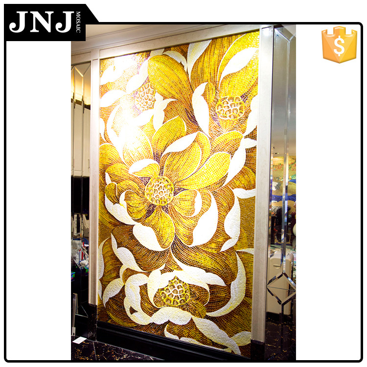 JNJ Supplier Mosaic Flower Decorative Wall Mural Design