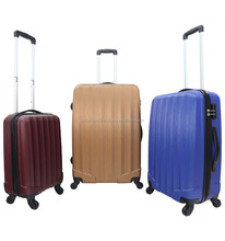 RS170303 3pcs abs trolley case set suitcase hard luggage