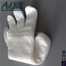 Disposable Clear Poly Hybrid Stretch Gloves, Copolymer Polyethylene PE gloves