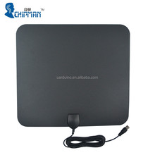 2016 Wholesale Amplified Indoor Digital TV Antenna Ultra-thin 50 Miles Range HD High Gain Flat Antenna