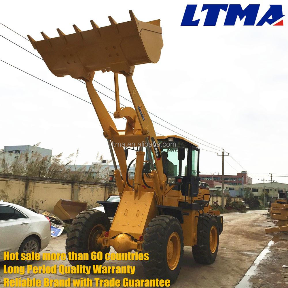 3400mm dumping height 3 ton front wheel loader for sale