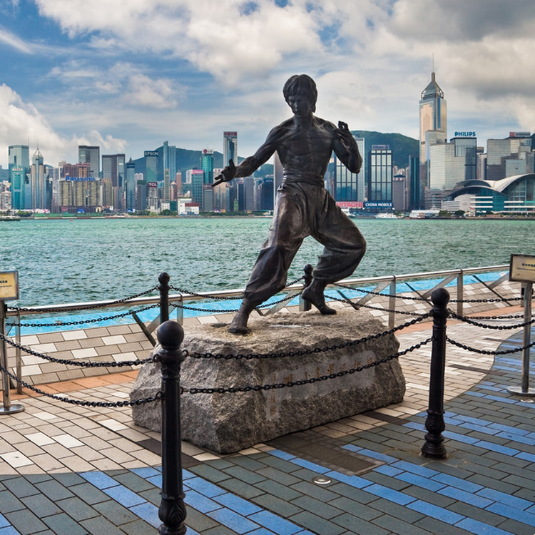 bronze foundry bruce lee statue life size in in Hong Kong