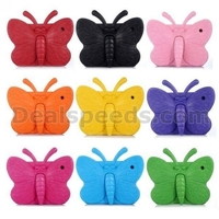 3D Butterfly Pattern Protective EVA Foam Stand Case for iPad 2/New iPad/4