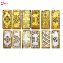 mobile phone accessories case for apple iphone 6 cover High quality phone cover for iphone 6 Luxurious Gold PC case