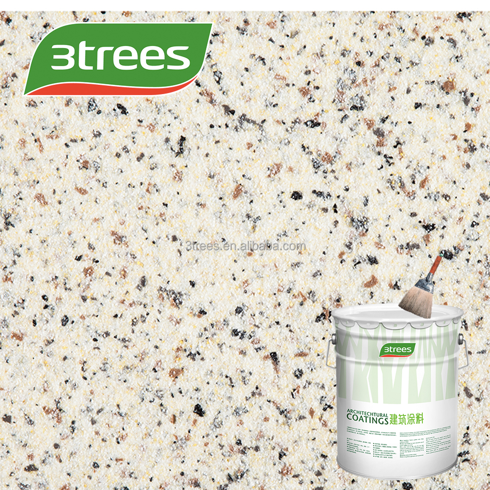 3TREES sand rock-chip textured exterial lacquer paint for wall