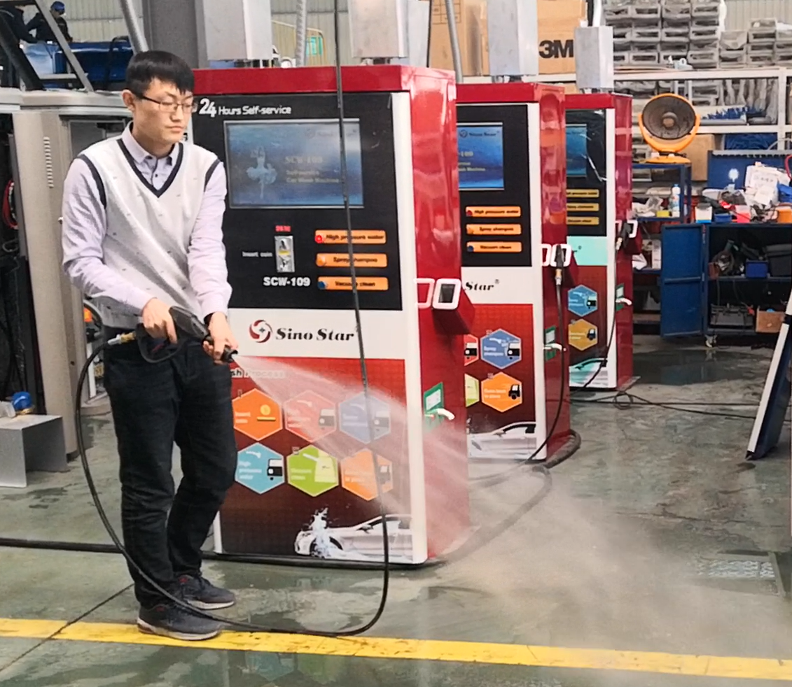 (SCW-109) Professional coin / card operated self-service car washing machine/self service car wash equipment system