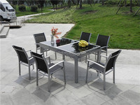 New design outdoor furniture extension table and chairs garden set