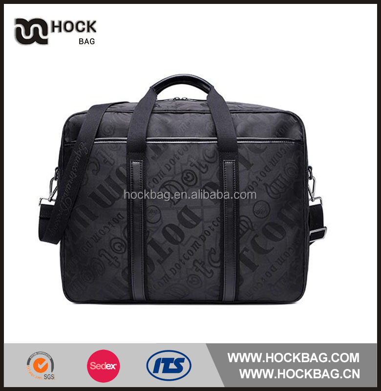 2015 best selling cheap Square large capacity black quality nylon travel cosmet bag
