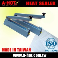 Tops 30cm handy hand type PE PP OPP PVC OPF NY plastic bag sealing machine heat sealer without plastic Bag Sealing Clips