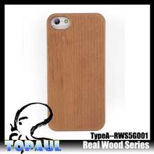 New arrival eco-friendly plain wood bamboo phone case for iphone5s