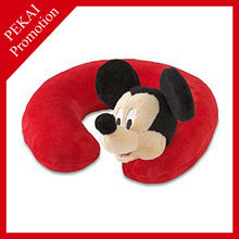 Child personalized micro bead travel neck pillow, Mickey mouse design