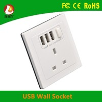 electrical items ! 1 gang with 3 usb and single switch UK standard wall power socket