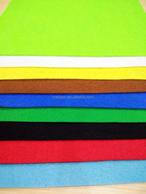 200g polyester felt farbric at 50x70cm size and 1.6mm thickness for craft use