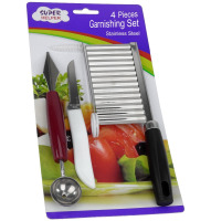 JK16108EA 4-piece Stainless Steel Fruit and Vegetable Carving Tools