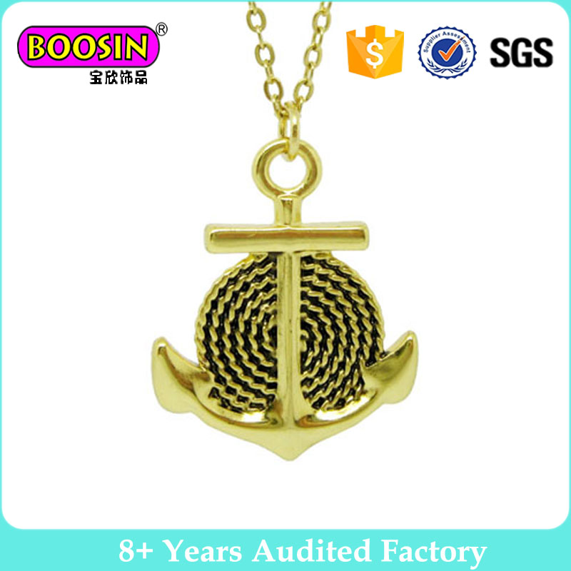 Nautical sealife anchor ship wheel gold filled charms #B2412